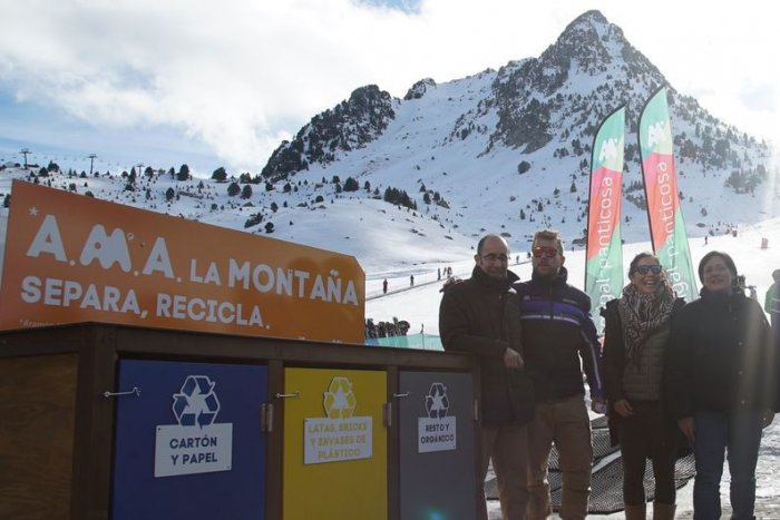 noticia ski Aramón se apunta al reciclaje de residuos con ECOEMBES