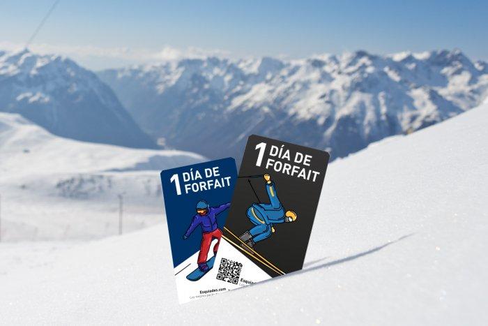 noticia ski ¿En qué estaciones está disponible el forfait de 1 día?