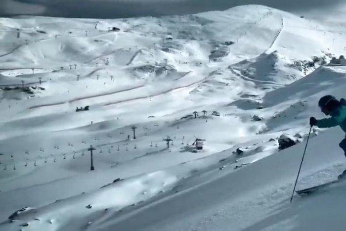 noticia ski Sierra Nevada alcanza los 40 km esquiables y abre la primera pista negra de la temporada