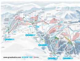 Map of the ski resort Grandvalira
