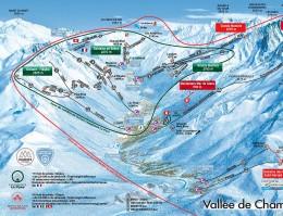 Mapa pistes Chamonix Montblanc Unlimited