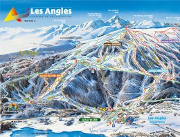 Map of the ski resort Les Angles