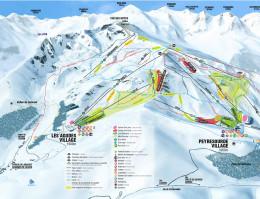 Mapa pistes Peyragudes