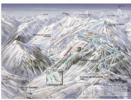 Map of the ski resort AX 3 Domaines