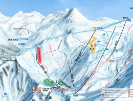 Map of the ski resort Cauterets