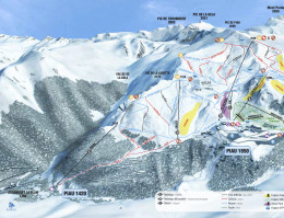 Map of the ski resort Piau Engaly