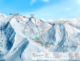 Karte des Skigebiets Luz Ardiden