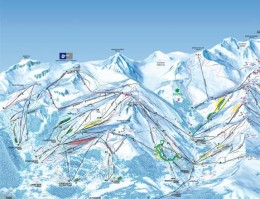 Map of the ski resort Les 3 Vallées