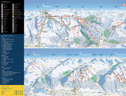 Map of the ski resort Davos Klosters Mountains