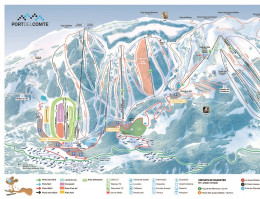 Map of the ski resort Port del Comte