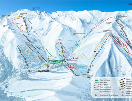 Map of the ski resort Pra Loup