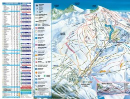 Map of the ski resort Sierra Nevada