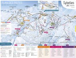 Plan des pistes Toussuire & Bottières - Les Sybelles