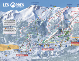Map of the ski resort Les Orres