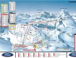 Map of the ski resort Candanchú