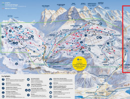 Map of the ski resort Mürren