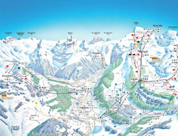 Map of the ski resort Engelberg (Titlis)