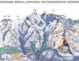 Map of the ski resort Zermatt (Matterhorn)