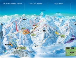 Map of the ski resort Formigal