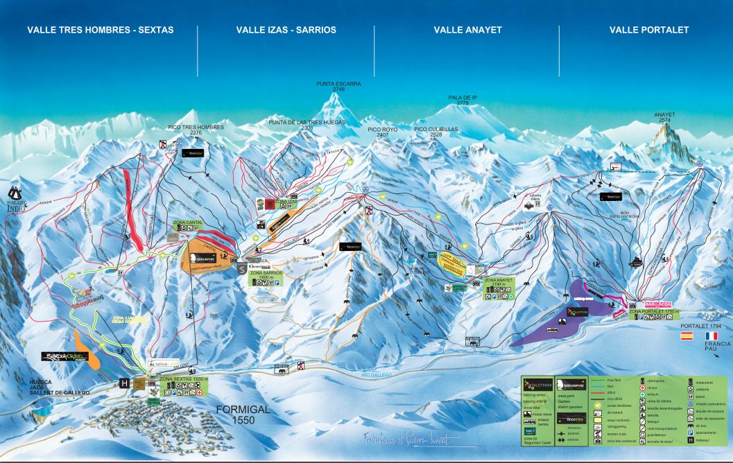 mapa pistas Formigal