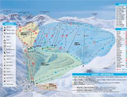 Plan des pistes La Pinilla