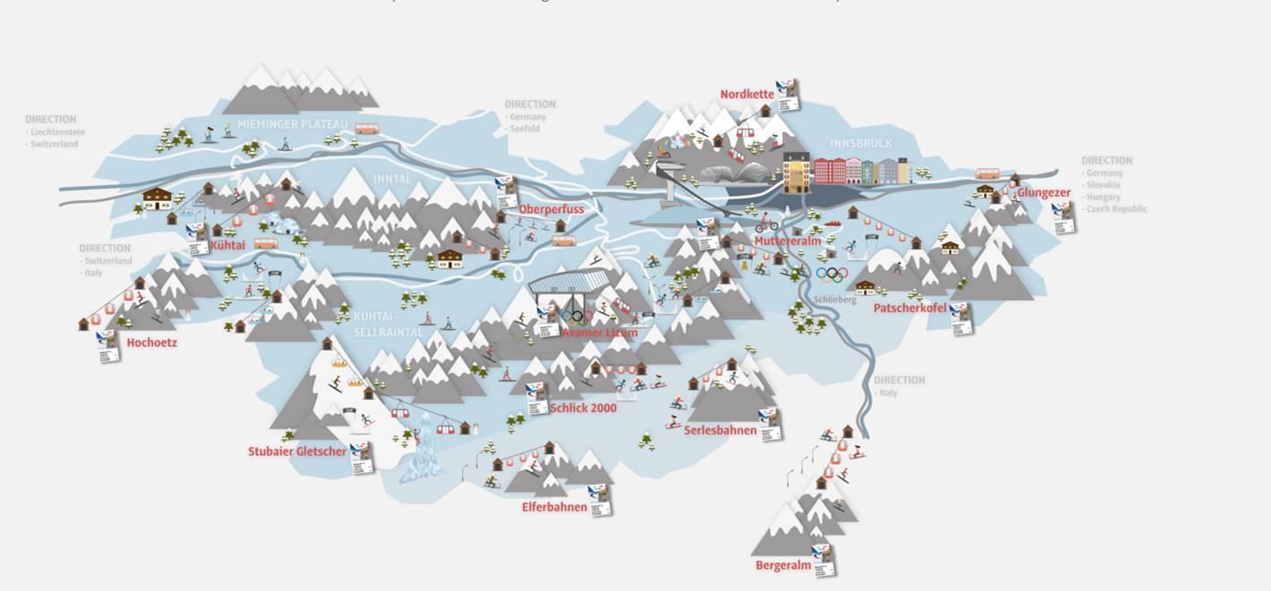 mapa pistas Innsbruck
