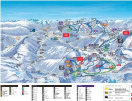 Map of the ski resort Vallnord