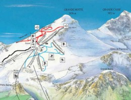 Map of the ski resort Summer in Tignes