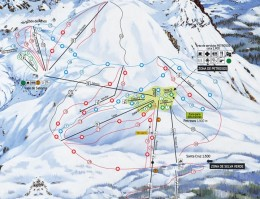 Map of the ski resort Panticosa