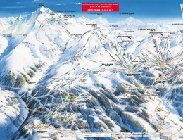 Map of the ski resort La Plagne