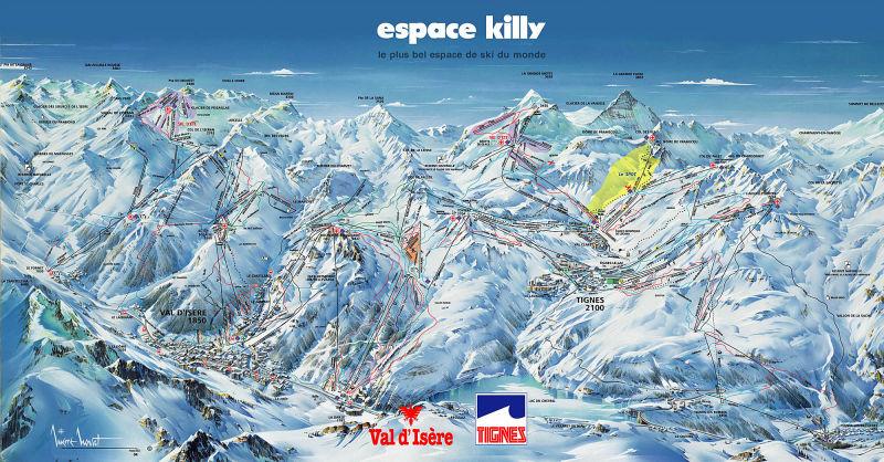 mapa pistas Tignes y Val d'Isère