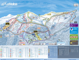 Map of the ski resort La Molina