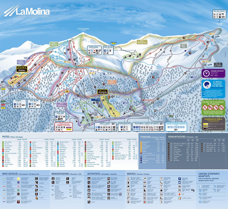 mapa pistas La Molina
