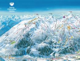 Karte des Skigebiets Serre Chevalier