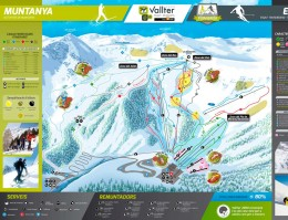 Map of the ski resort Vallter 2000