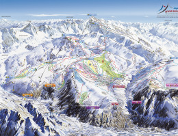 Map of the ski resort Alpe d'Huez