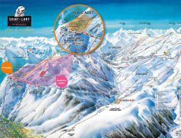 Karte des Skigebiets Saint-Lary