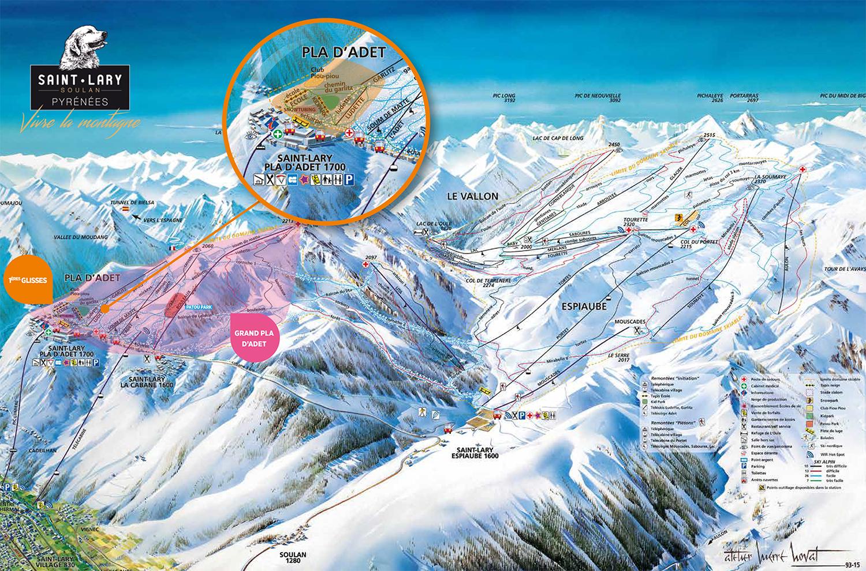 mapa pistas Saint-Lary