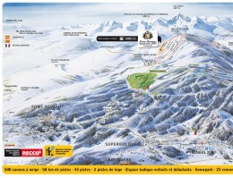Map of the ski resort Font Romeu
