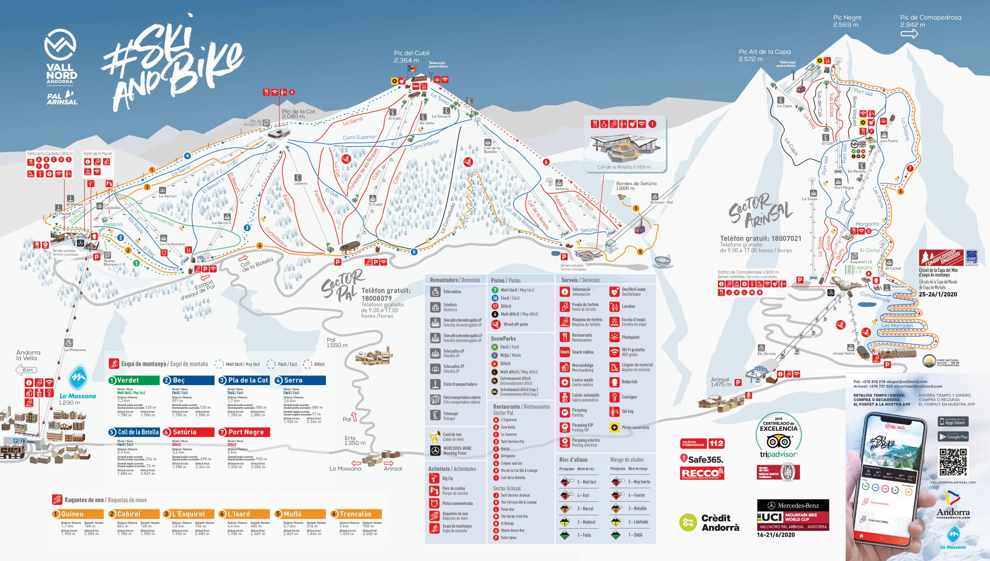 mapa pistas Vallnord Pal-Arinsal