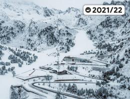 Karte des Skigebiets Ordino-Arcalís