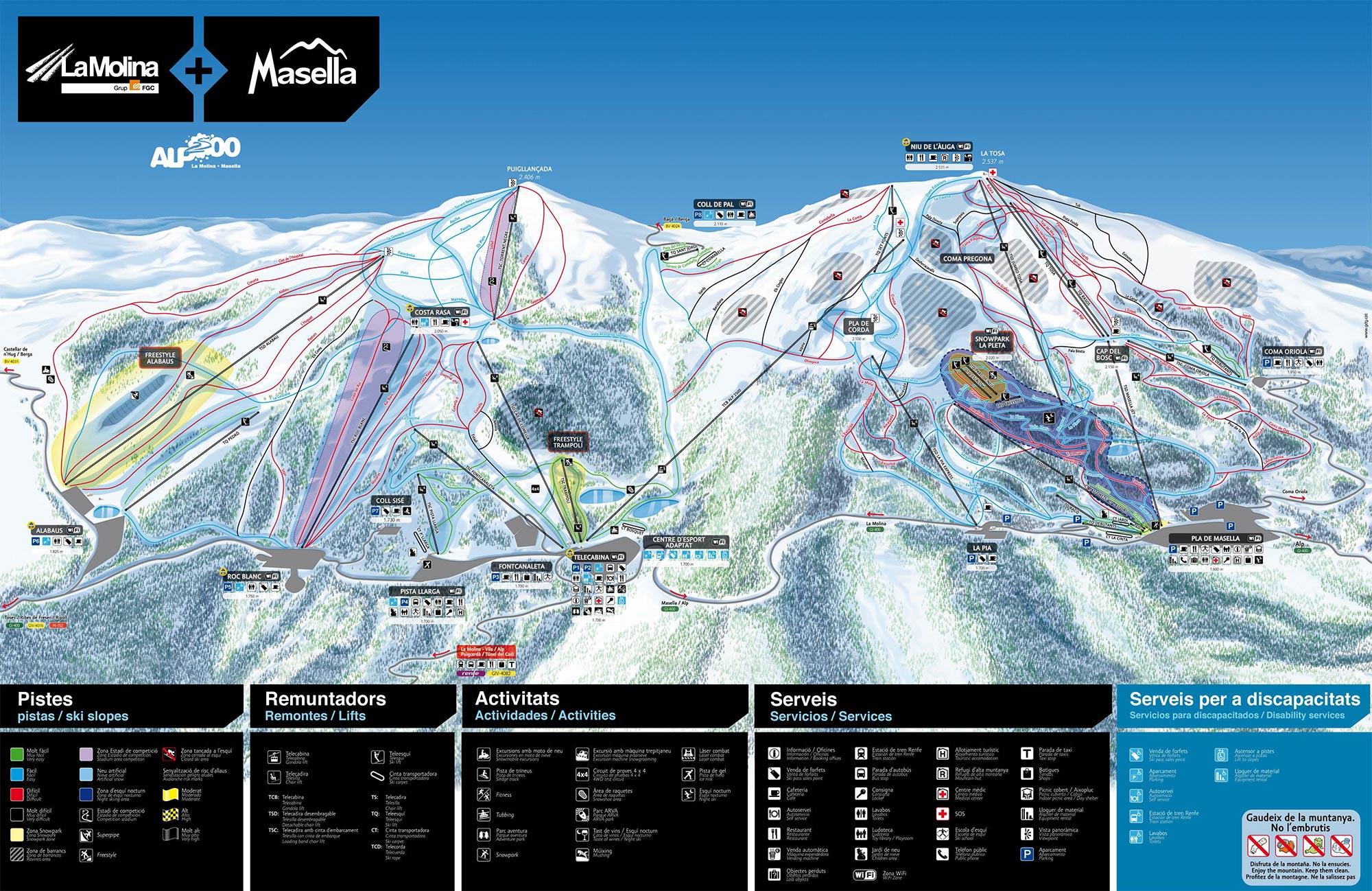 mapa pistas Molina+Masella