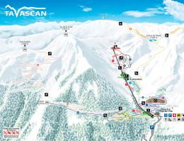 Plan des pistes Tavascan
