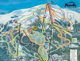 Map of the ski resort Masella