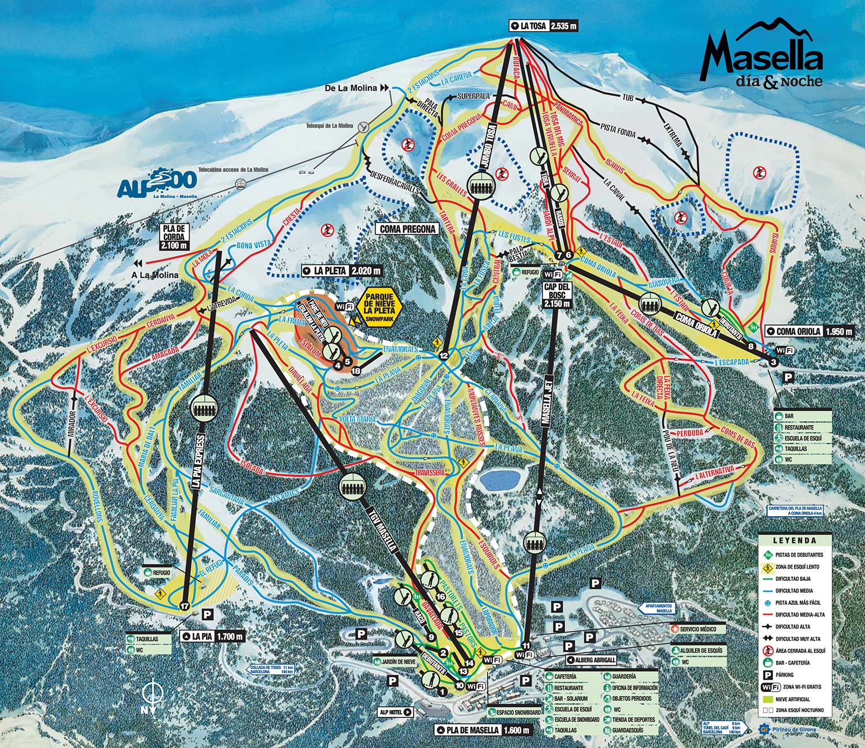 mapa pistas Masella