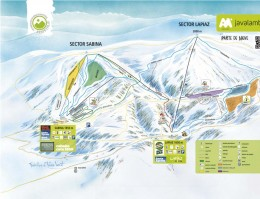 Map of the ski resort Javalambre