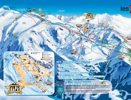 Map of the ski resort Les 2 Alpes