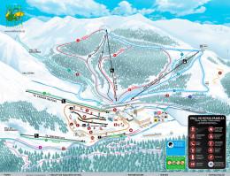 Map of the ski resort Vall de Núria
