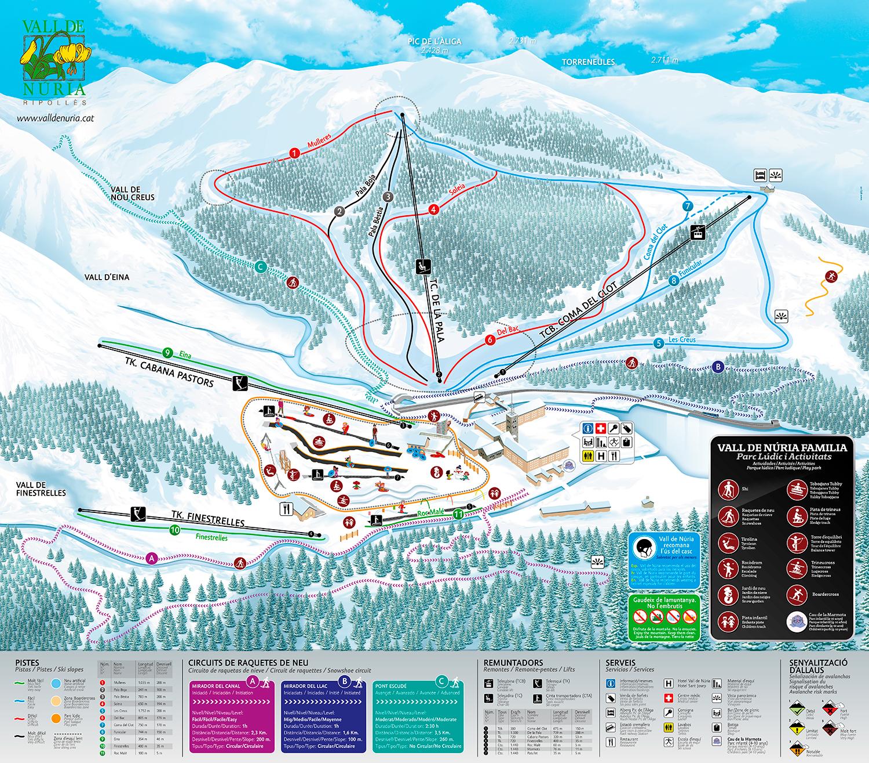 mapa pistas Vall de Núria