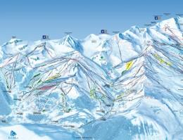 Mapa pistes Val Thorens + Orelle